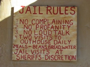 And every mining town needs a jail. Just be aware of the strict rules, OK?