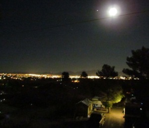 Las Cruces skyline from the KOA hilltop.