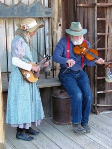 Yes. They're real and they played real old timey, boot stompin music.