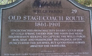Old Stagecoach route